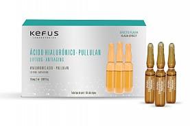 Ampollas Faciales Acido Hialuronico Pullulan Efecto Flash Kefus 10 u