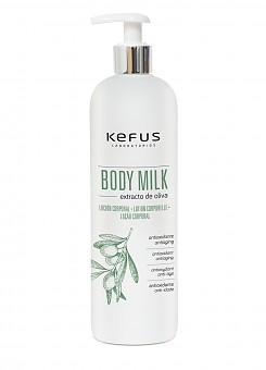 Locion Corporal Body Milk Extracto de Oliva Kefus 500 ml