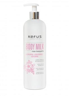 Locion Corporal Body Milk Rosa Mosqueta Kefus 500 ml