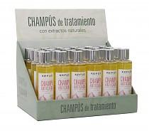 Expositor Champú 24 uds. Anticaida Extracto Cebolla Dexpanthenol Kefus 200 ml
