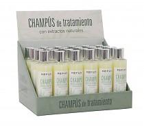 Expositor Champú 24 uds. Arcilla Blanca Kefus 200 ml