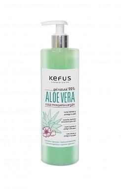 Gel de Aloe Vera Natural Verde Rosa Mosqueta y Argan Kefus 500 ml