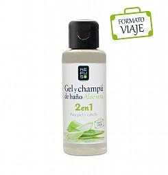 Gel de Baño + Champu Formato viaje 2 en 1 Kefus 100 ml