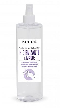 Solución Alcoholica Higienizante de manos spray Kefus 500 ml