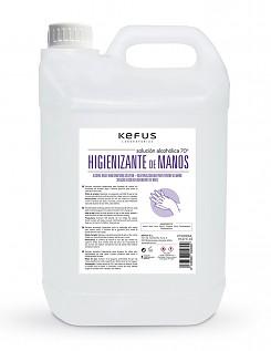 Solución Alcoholica Higienizante de manos para spray Kefus 5000 ml