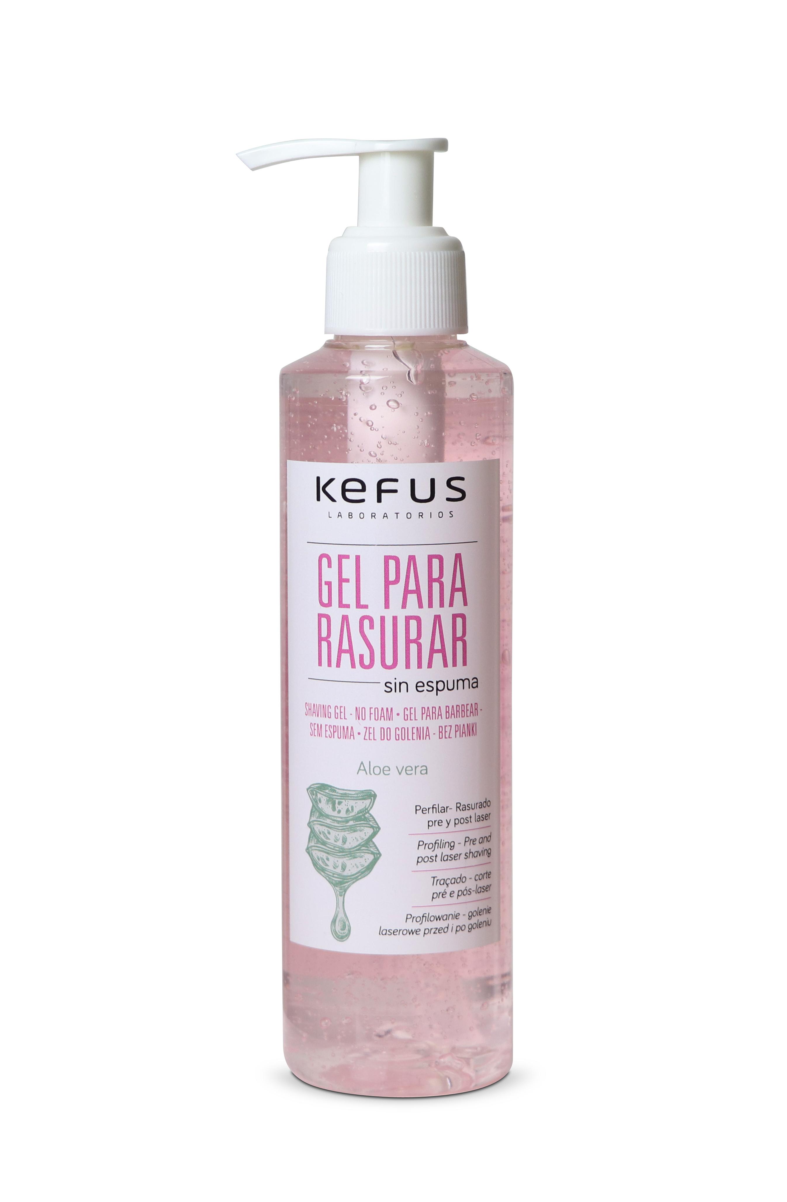 Gel para rasurar sin espuma Kefus 200 ml